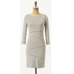 Bailey 44 Anthropologie Striped-Knit Column Dress